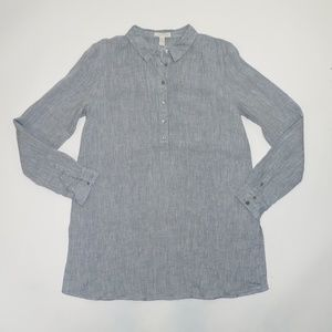 Eileen Fisher Chambray Tunic Top